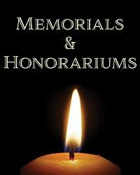 poster for Memorials/Honorariums